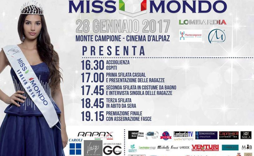 MISS WORLD SELECTION IN LOMBARDY AREA
