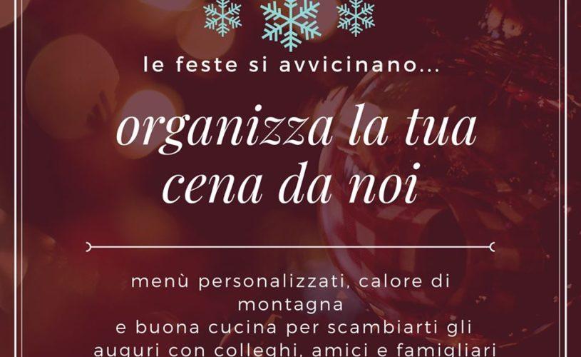 Scambia gli auguri di Natale con una cena da noi!
